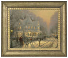 Внешний вид - Thomas Kinkade Holiday Gathering 16 x 20 Brushstroke Vignette (Choice of Frame)