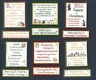 6 PET ANIMAL Themed Christmas Card Craft Verse Toppers W/WO Matching Sentiments