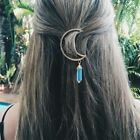 VERY UNIQUE CRESCENT Moon HAIR CLIP with CRYSTAL POINT Penda