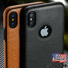SLIM Luxury Leather Back Ultra Thin TPU Case Cover for iPhone X& 8/7/6s Plus