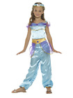 Arabian Princess Costume, Blue Fairytale Princess Halloween Fancy Dress Costume