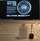 Gloss Black Alloy Wheel Repair Paint Touch Up Kit with Brush - Free P+P!
