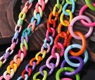 HOT Colorful Baby Chunky Acrylic Open Chain Link Ring Connector Jewelry Making