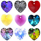 Genuine Swarovski 6228 Ab Xilion Heart Crystals Pendants * Many Color/size