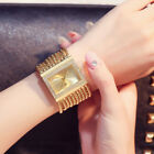 2017 Fashion Women Wristwatch Bracelet Wrist Chain Watch Ladies Width Chain SY