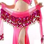 Sexy Belly Dance Coin Chain Belt Costume Hip Scarf Sequins Wrap Waistband Belt