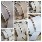 12mm, 25mm, 38mm Soft Woven Edge Ribbon Tape Slate Grey Natural Ivory White Chic