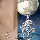 GPE Elegant Double Dolphin Pendant Dolphin Necklace for Girl Woman Full of Charm