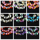10pcs 18mm Faceted Glass Crystal Heart Loose Spacer Beads Jewelry DIY