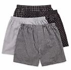 Stafford 4-Pack Men's 100% Cotton Woven Boxers Black Plaid