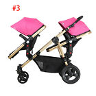 Twin Baby Stroller Lightweight Stroller Travel pushchair with Second Seat 2017.