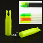 100 x Archery Arrow Nocks Plastic for 6mm Shaft Tail Replace Nock Length 35mm