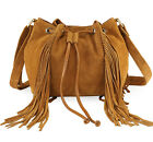 WOMEN RIMOR ALICIA FRINGED SUEDE CLUTCH LEATHER BAG BY HYDESTYLE LB57 RRP £54.99