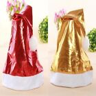 1x Bright Gold or Red Cap Christmas Holiday Party Decor Gifts Santa Claus Hats