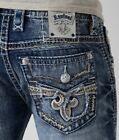 New Men's Rock Revival Slim Bootcut Jeans Scion 28 29 30 31 32 33 34 36