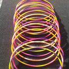 KIDS MULTI COLOR STRIPE HULA HOOPS ADULTS EXERCISE GYM INDOOR OUTDOOR FITNESS