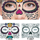 Face Tattoo Sticker Temporary Fancy Dress Makeup Waterproof  Halloween Ornaments $1.24 USD