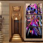 Decorative Canvas Prints Home Wall Hanging Abstract Artwork Painting Picture