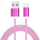 3/6/10FT Braided Type C Fast Charging Cable USB-C For Samsung Galaxy S10 + S10e