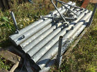 GALVANISED HANGING METAL FARM GATE POSTS  (4 1/2) Collection Only WA15