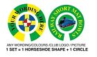 """PERSONALISED BOWLS STICKERS ANY WORDING/PHOTO 1"""" LAWN FLATGREEN INDOOR BOWLS"""