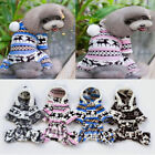Winter Warm Pet Dog Puppy Sweater Hodded Hoodie Jumpsuit Coat Clothes Outwear
