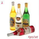 New 4pcs Dollhouse Miniature Bottled Mineral Water Jam 1 6 1 12 Scale Home Decor