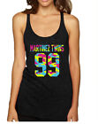 NEW Women's Tank Top Martinez Twins 99 Neon Camo Print Cool Top