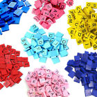 Full Set of 100 Colour Scrabble Tiles Alphabet Wooden Plastic Craft Letters Set