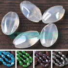 5pcs 20X12X9mm Oval Lampwork Glass Loose Spacer Beads Jewelry DIY Findings