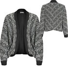 Womens Ladies Crop Open Fit Blazer Bow Back Evening Jacket Casual Shrug Office