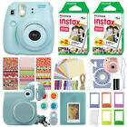 Fuji Instax Mini 8 Fujifilm Instant Camera All Colors + 40 Film Deluxe Bundle