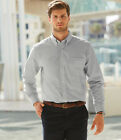 Fruit of the Loom Long Sleeve Oxford Shirt Men's Business Work Office Mens