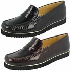 Ladies Van-Dal Patent Leather Loafer Flat Shoes - Heywood