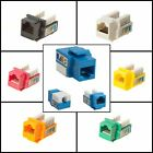 Cat5 Cat5e Cat6 Keystone Jack Connector Ethernet 8P8C RJ-45 110 Punch Down Lot