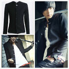Hot Fashion Men's Slim Solid Coat Chinese Tunic Suit Fashion Cool Jacket Outwear