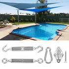SUN SHADE SAIL GARDEN PATIO AWNING CANOPY SUNSCREEN FITTINGS EASY FIXING KIT