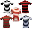 Kids Stripe Tshirt Dennis Pirate Sailor Fred Party Fancy Dress Cosplay Book Day