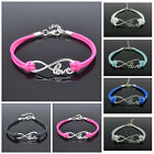 NEW IN MULTI-COLOURED WAX ROPE LOVE INFINITY BRACELET FOR ADULT
