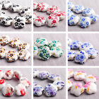Wholesale 10/30pcs 15X6mm Flower Ceramic Porcelain Loose Spacer Beads Findings