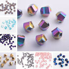 30pcs Faceted Glass Crystal Charm Findings Helix/Twist Loose Spacer Beads 6mm