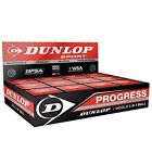 Dunlop Squash Balls Progress Red The Official Sports Ball of the WSF, PSA, WSA N