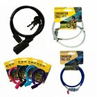 2 Key Bicycle Cable Lock Combination Security Bike Steel Chain Spiral Padlock