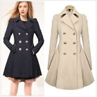 womens long winter coats - US Ladies Slim Outwear Coat Breasted Long Trench Overcoat Women Windbreaker