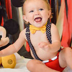 Baby Boy 1st Birthday Outfit Bowtie Suspenders Bloomers Cake Smash Photo Costume