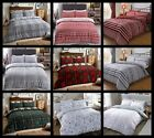 THERMAL 100% BRUSHED COTTON FLANNELETTE QUILT DUVET COVER BED SET COSY WARM SOFT image