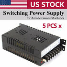 Lot 5PCS Output 5V/10A 12V/2A -5V/1A Switching Power Supply For Jamma Arcade US
