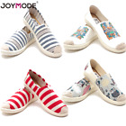 Women Classics TOM Loafers Canvas Slip-On Flats shoes Stripe Casual LazyShoes