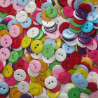 15mm RESIN MIXED COL 2-HOLE ROUND BUTTONS  INDENT PATT CRAFT/SEWING SCRAPBOOK