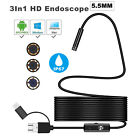 Type C Borescope Snake Spy Camera For Sewer Plumbing Inspection Android Mac Pc
